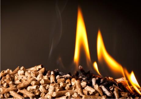 Holzpellets verbrennen schadstoffärmer als andere Holzbrennstoffe.