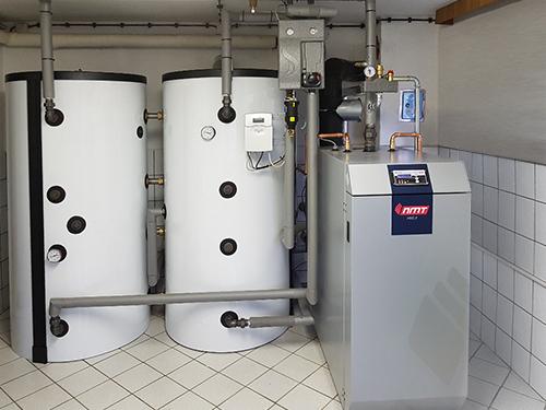Referenzanlage NMT-Holzvergaserkessel HVG II eingebaut vom NMT-Fachtpartner Steffen Oppermann in Schleiz